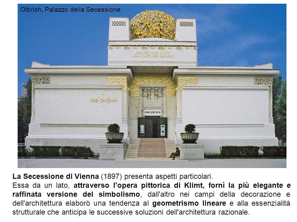 La Secessione di Vienna (1897) presenta aspetti particolari.