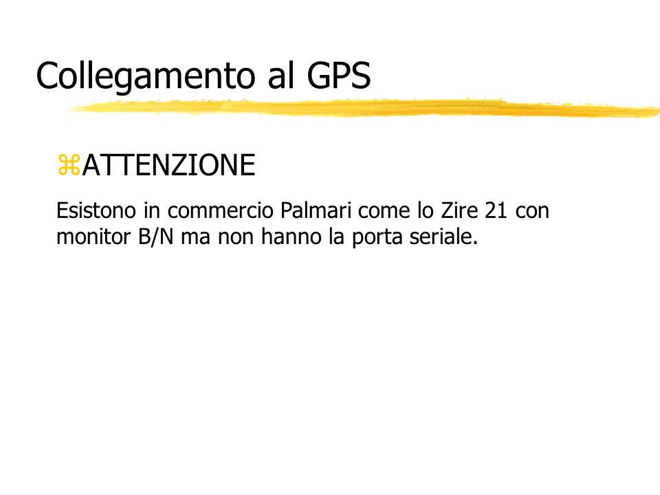 Collegamento al GPS ATTENZIONE