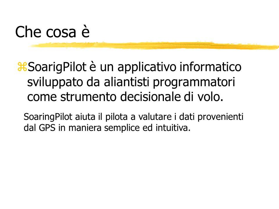 Che cosa è SoarigPilot è un applicativo informatico sviluppato da aliantisti programmatori come strumento decisionale di volo.