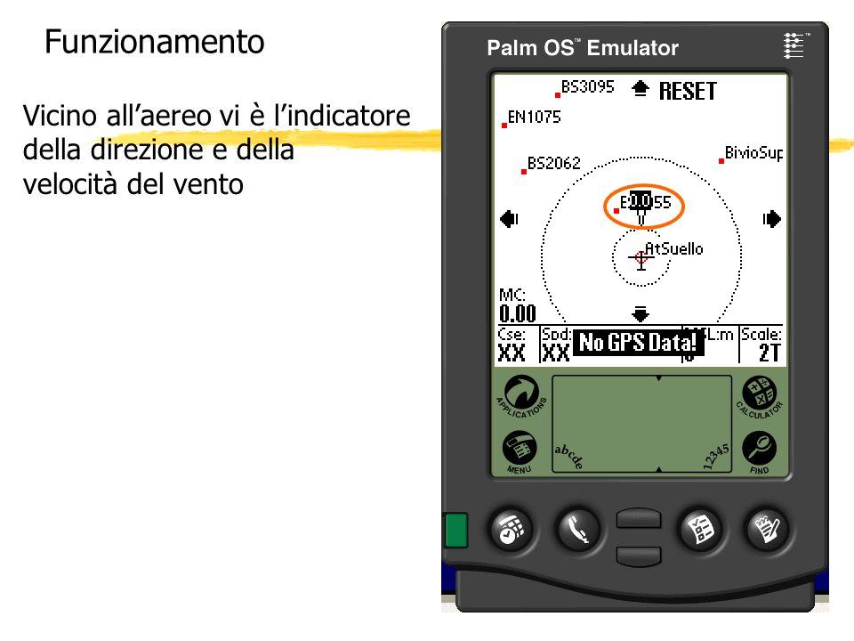 Funzionamento Vicino all'aereo vi è l'indicatore della direzione e della velocità del vento
