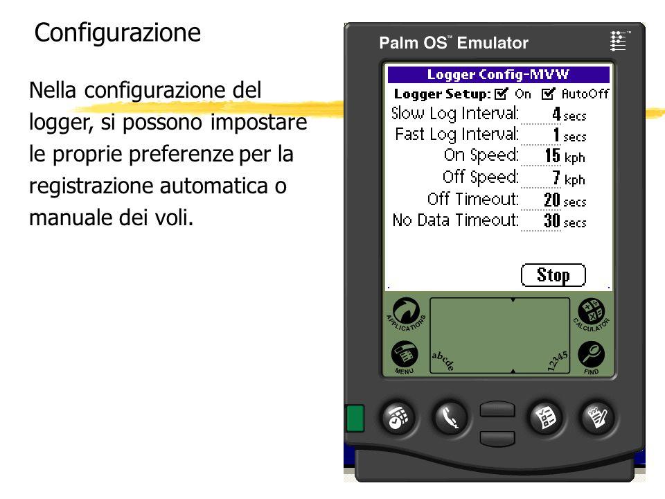 Configurazione Nella configurazione del logger, si possono impostare