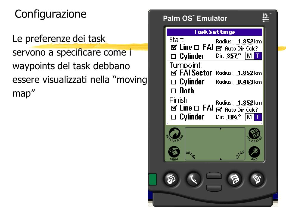 Configurazione Le preferenze dei task servono a specificare come i