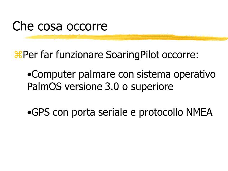 Che cosa occorre Per far funzionare SoaringPilot occorre: