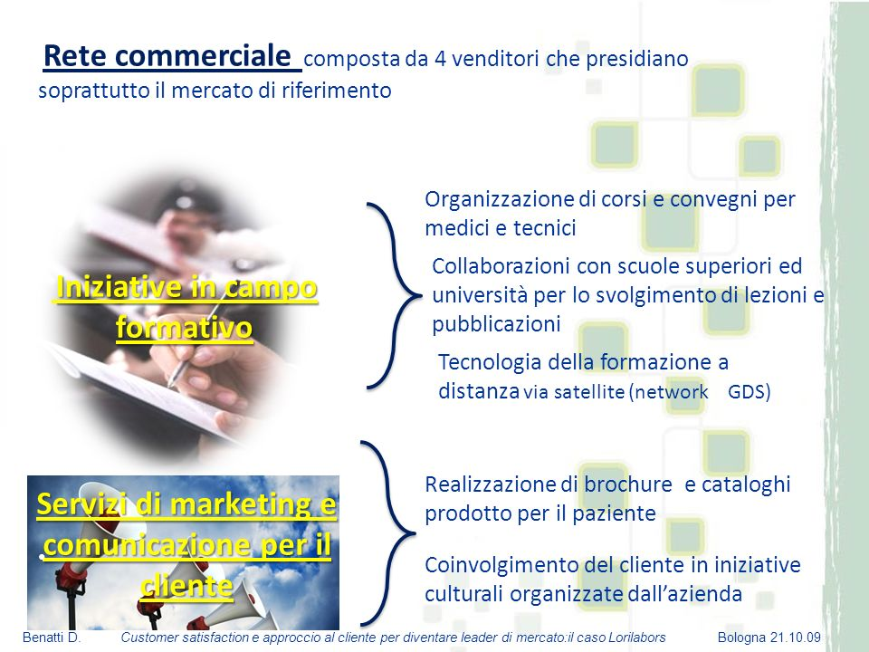 Servizi di marketing e comunicazione per il cliente