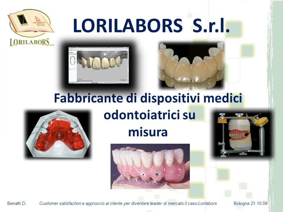 Fabbricante di dispositivi medici odontoiatrici su misura