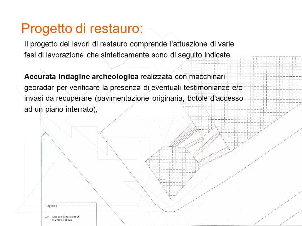 Progetto di restauro: Il progetto dei lavori di restauro comprende l'attuazione di varie.
