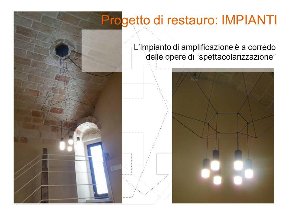 Progetto di restauro: IMPIANTI