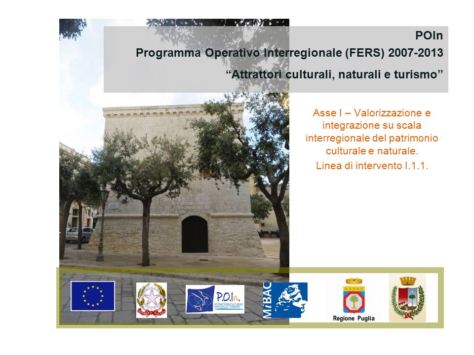 Programma Operativo Interregionale (FERS) 2007-2013