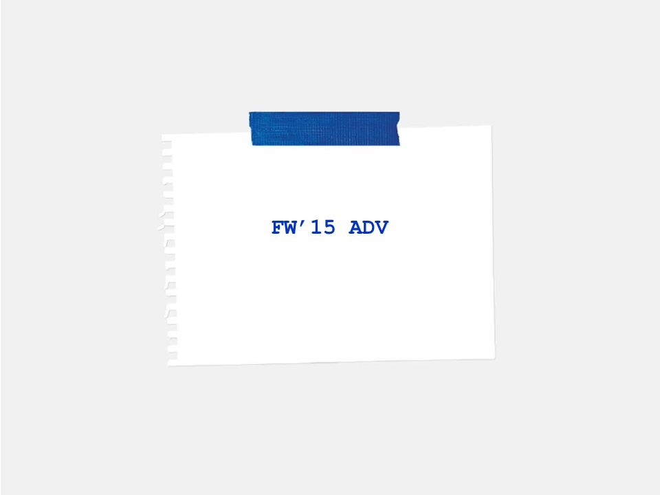 FW'15 ADV