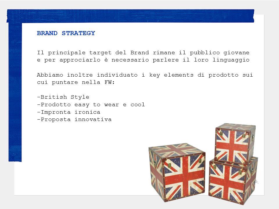 BRAND STRATEGY Il principale target del Brand rimane il pubblico giovane e per approciarlo è necessario parlere il loro linguaggio.