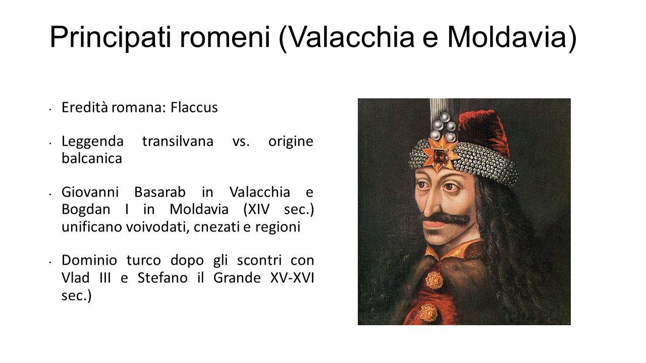 Principati romeni (Valacchia e Moldavia)