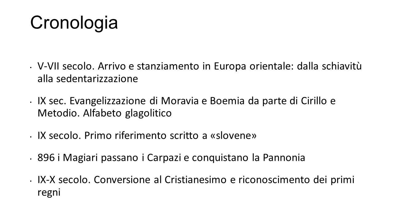 Cronologia V-VII secolo. Arrivo e stanziamento in Europa orientale: dalla schiavitù alla sedentarizzazione.
