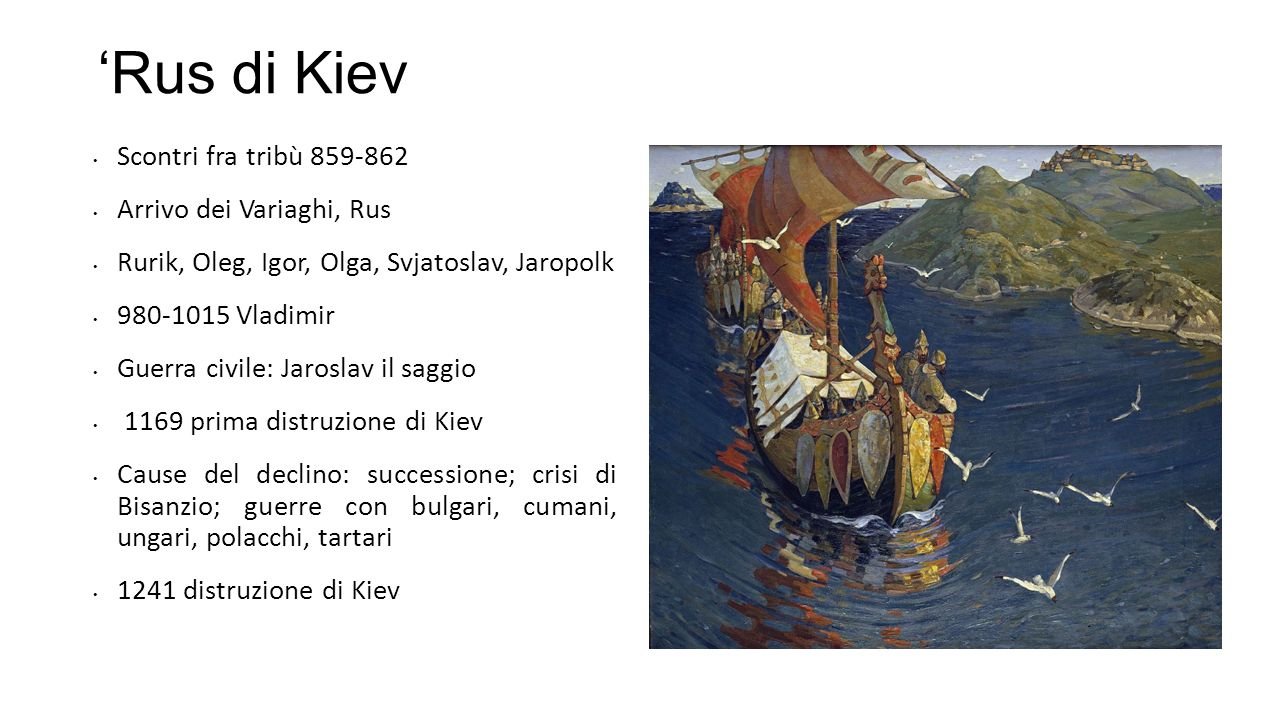 'Rus di Kiev Scontri fra tribù 859-862 Arrivo dei Variaghi, Rus
