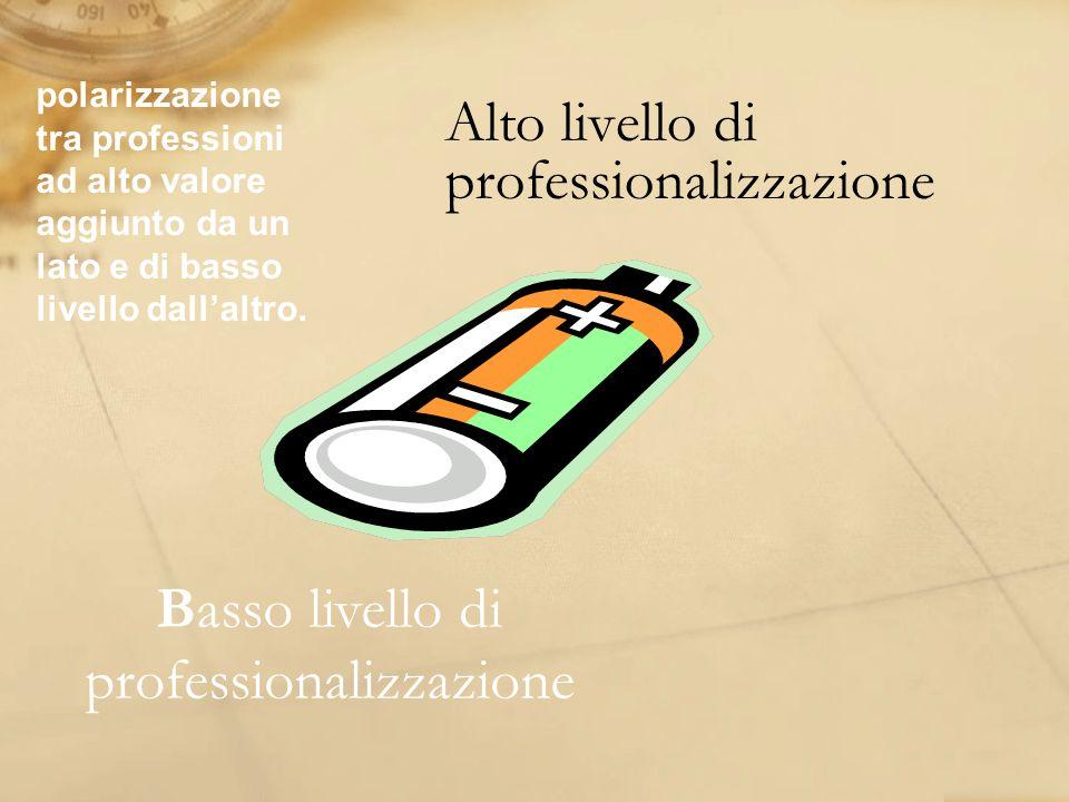 Alto livello di professionalizzazione