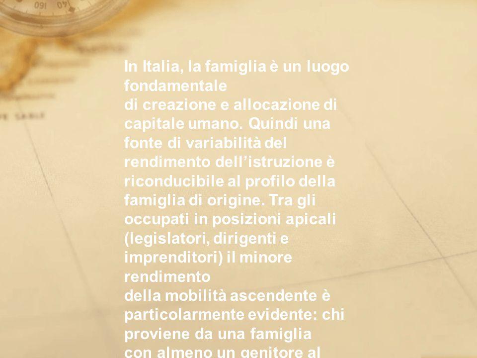 In Italia, la famiglia è un luogo fondamentale