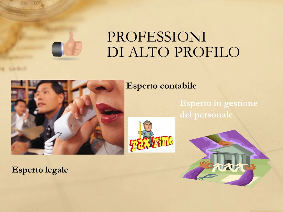 PROFESSIONI DI ALTO PROFILO