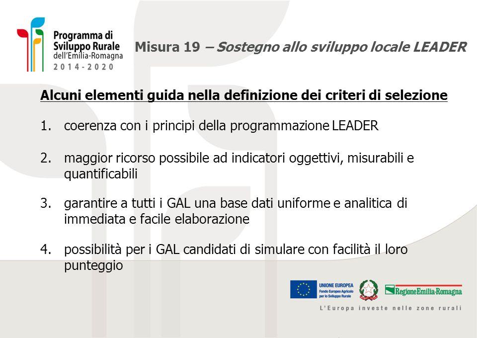 Misura 19 – Sostegno allo sviluppo locale LEADER