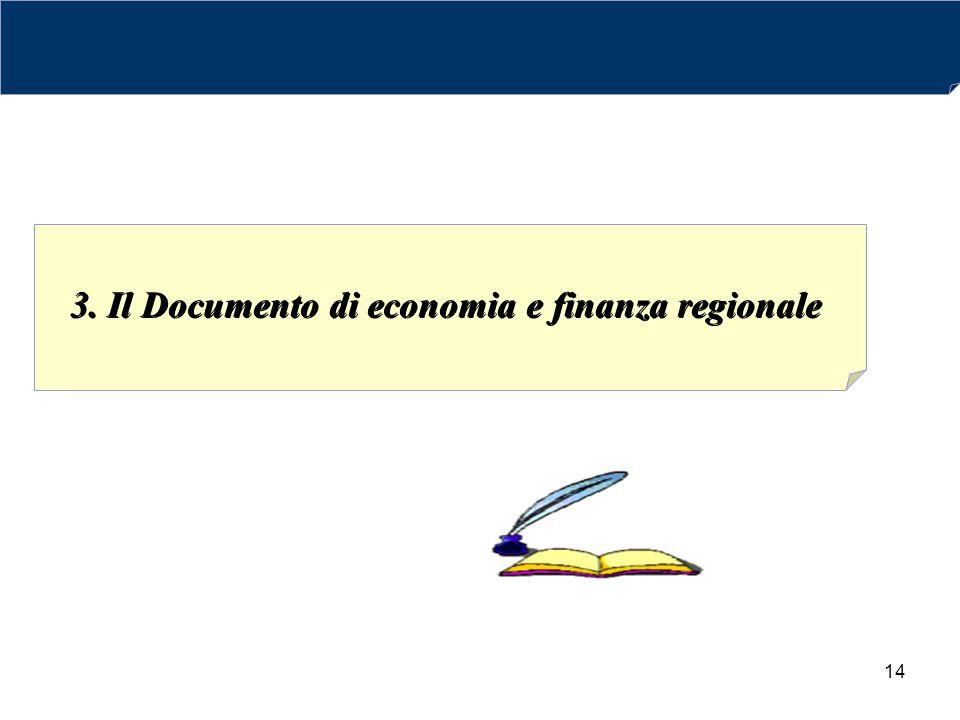 3. Il Documento di economia e finanza regionale