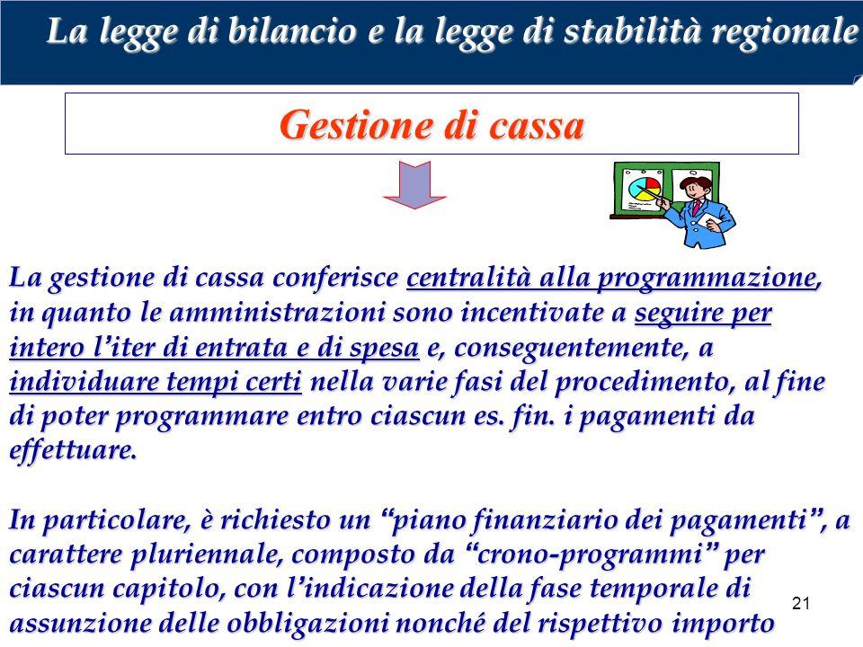 La legge di bilancio e la legge di stabilità regionale