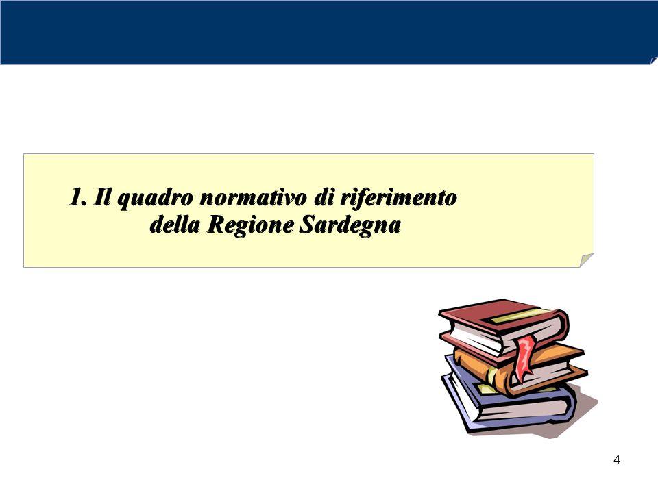 1. Il quadro normativo di riferimento della Regione Sardegna