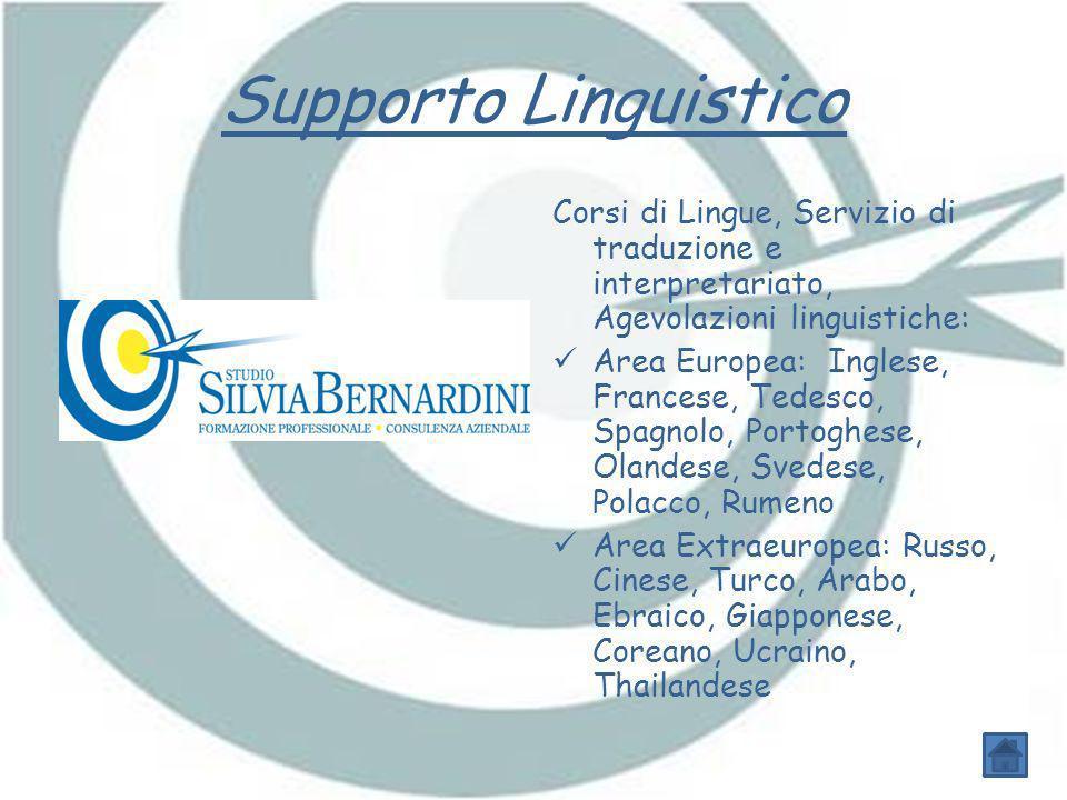 Supporto Linguistico Corsi di Lingue, Servizio di traduzione e interpretariato, Agevolazioni linguistiche: