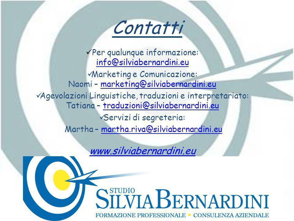 Contatti www.silviabernardini.eu