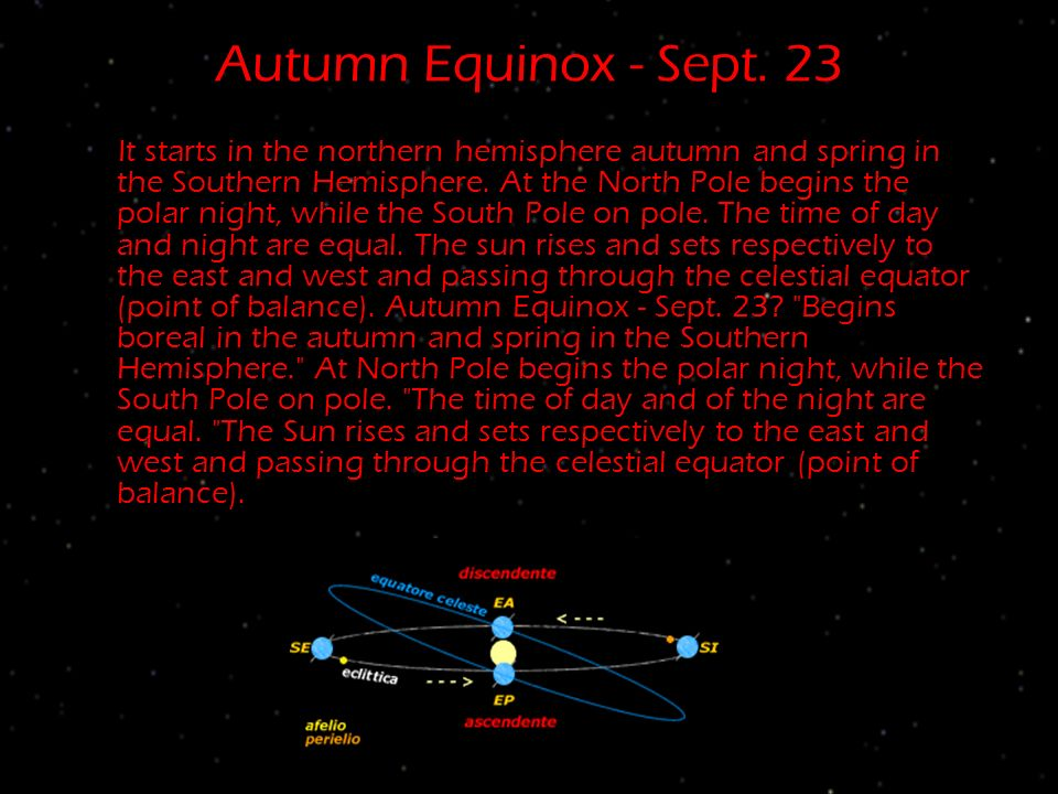 Autumn Equinox - Sept. 23