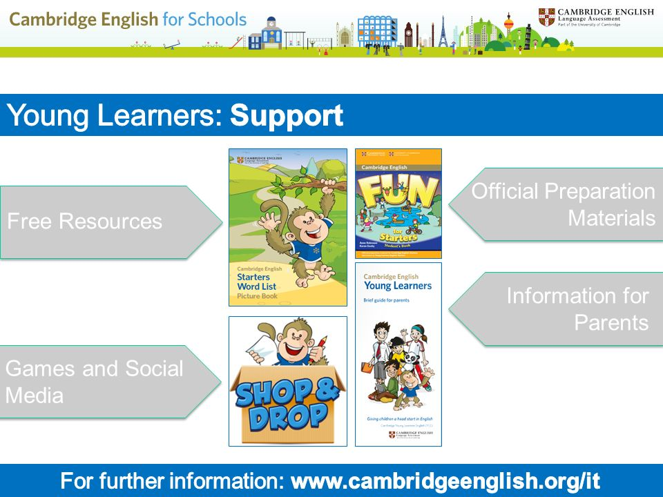 For further information: www.cambridgeenglish.org/it