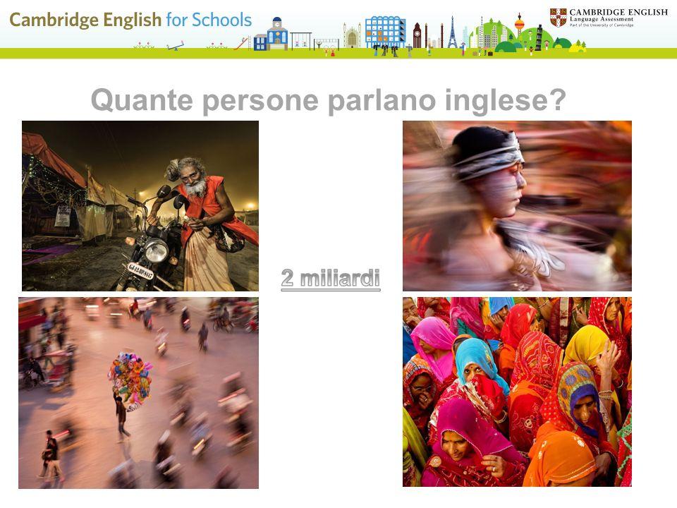 Quante persone parlano inglese