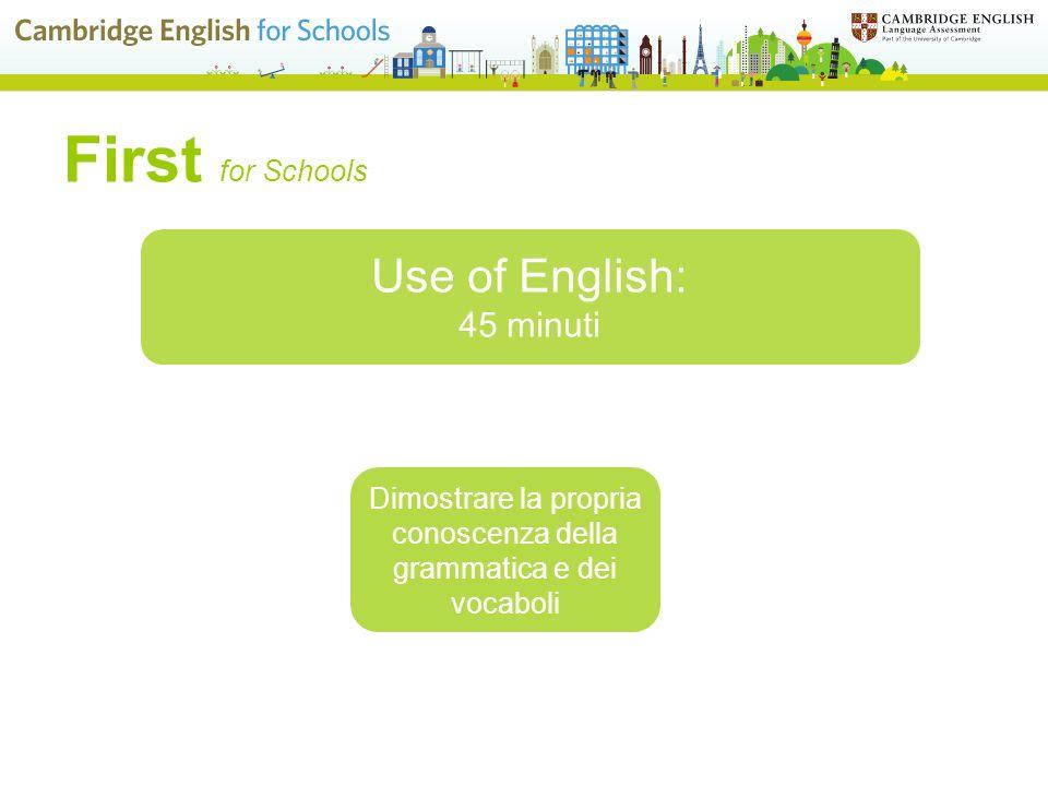 Dimostrare la propria conoscenza della grammatica e dei vocaboli