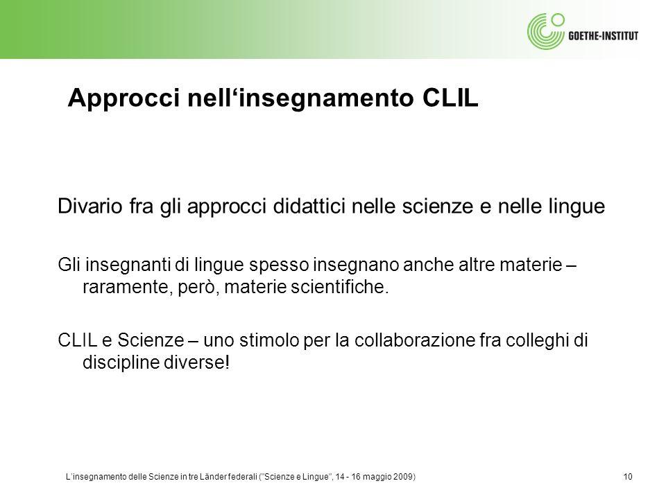 Approcci nell'insegnamento CLIL