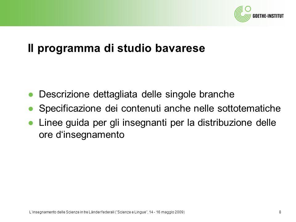 Il programma di studio bavarese