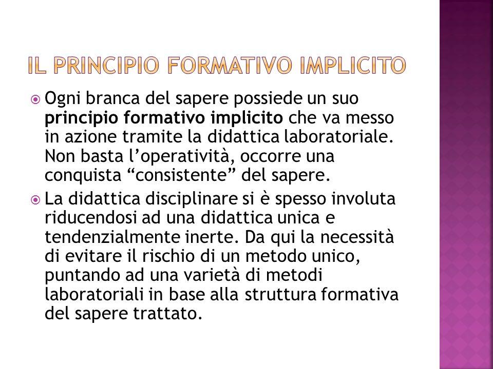 Il principio formativo implicito
