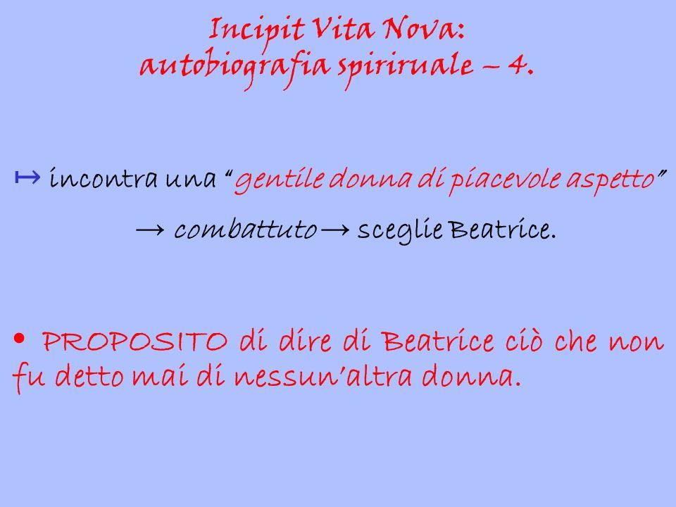 Incipit Vita Nova: autobiografia spiriruale – 4.