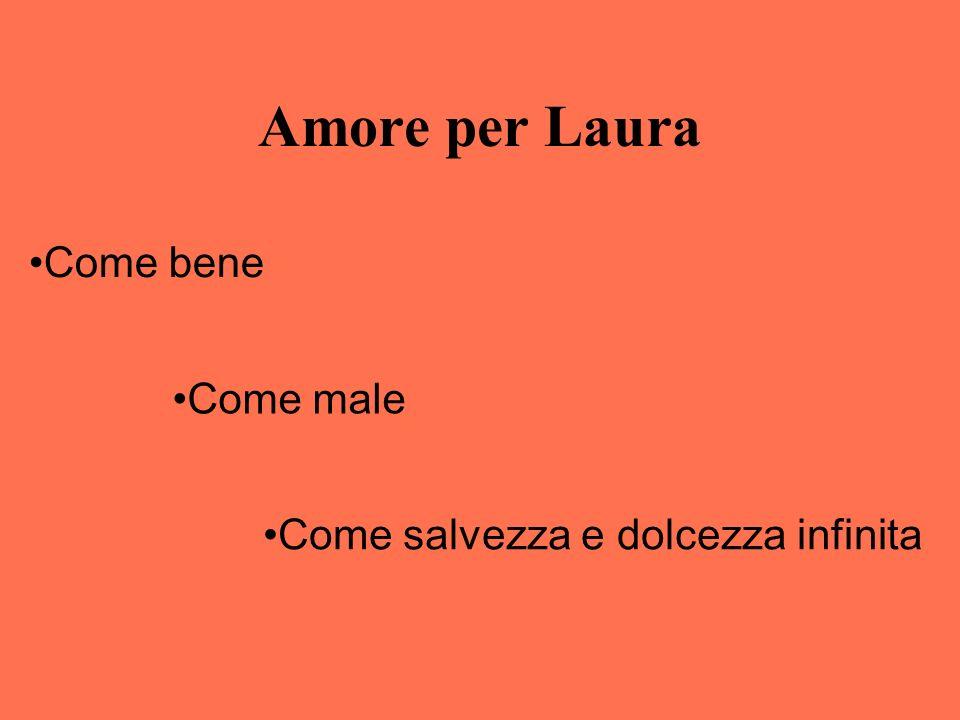 Amore per Laura Come bene Come male Come salvezza e dolcezza infinita