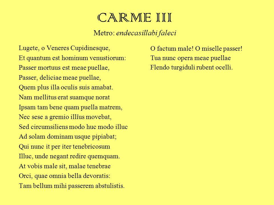 CARME III Metro: endecasillabi faleci