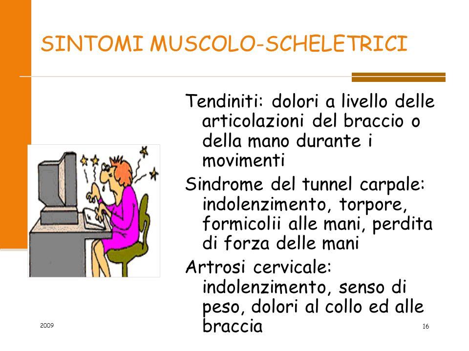 SINTOMI MUSCOLO-SCHELETRICI
