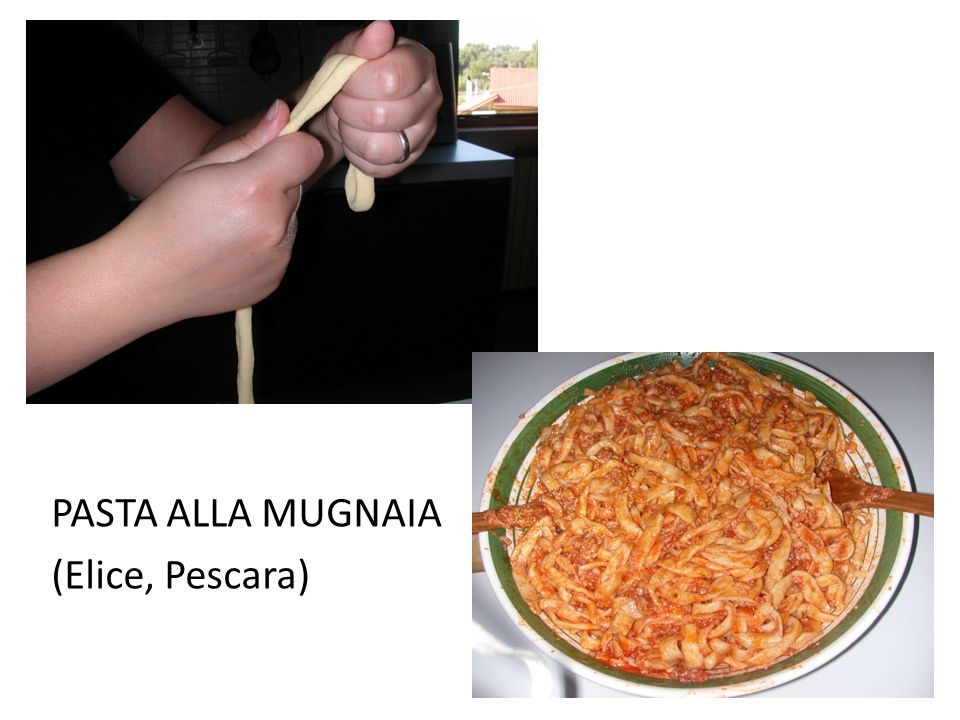 PASTA ALLA MUGNAIA (Elice, Pescara)