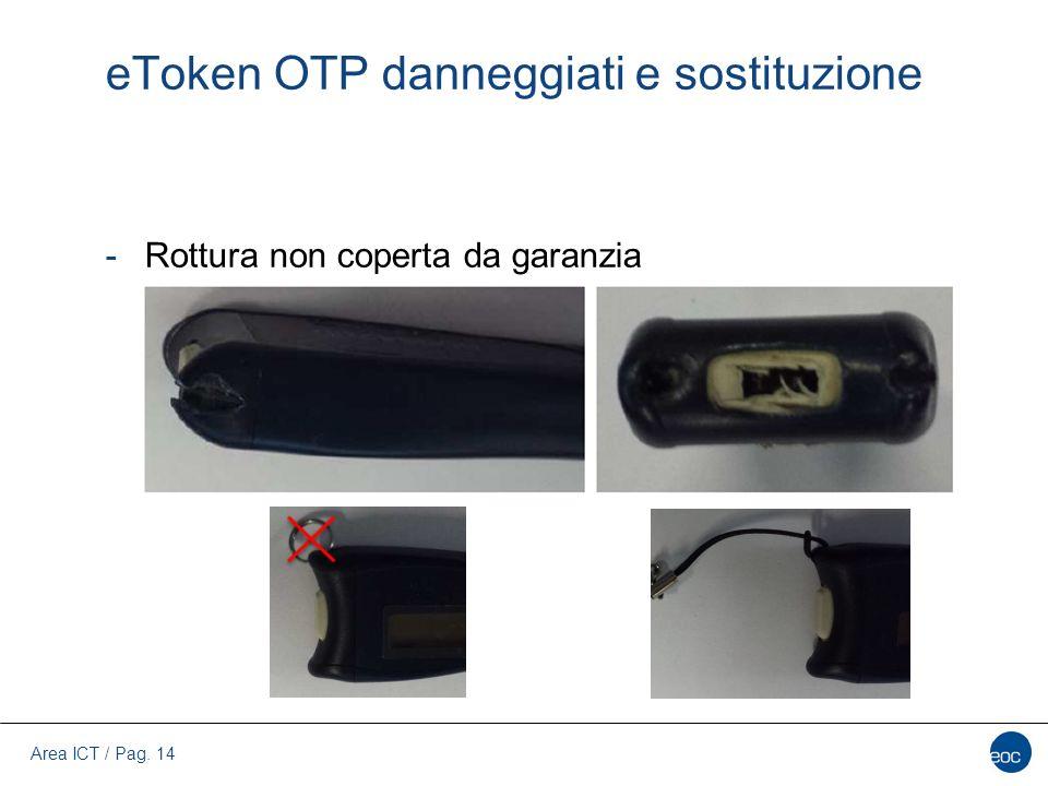 eToken OTP danneggiati e sostituzione