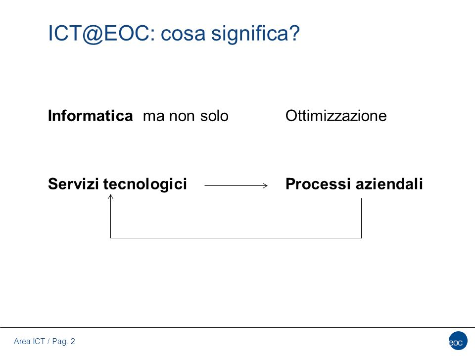 ICT@EOC: cosa significa