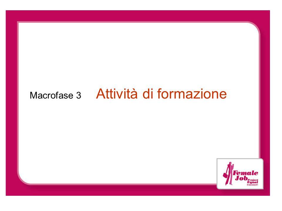 Macrofase 3 Attività di formazione