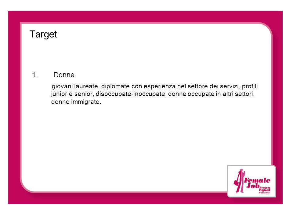 Target Donne.
