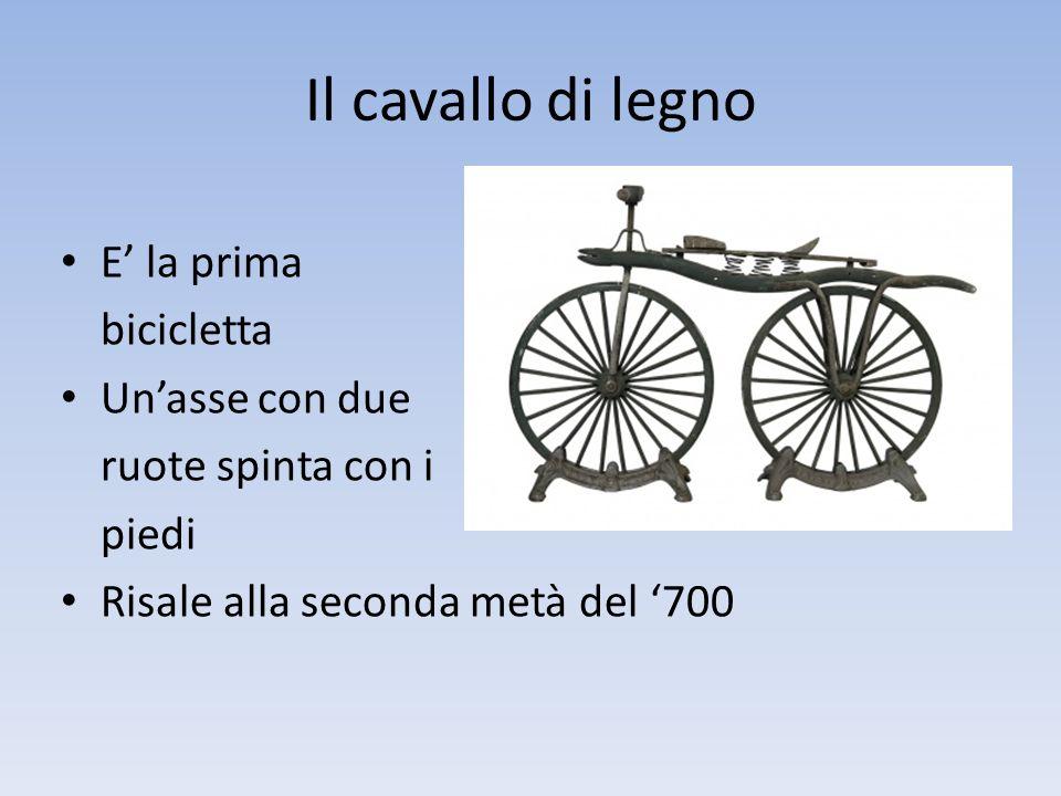 Il cavallo di legno E' la prima bicicletta Un'asse con due
