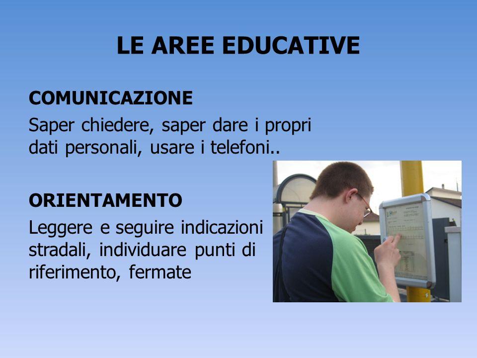 LE AREE EDUCATIVE COMUNICAZIONE