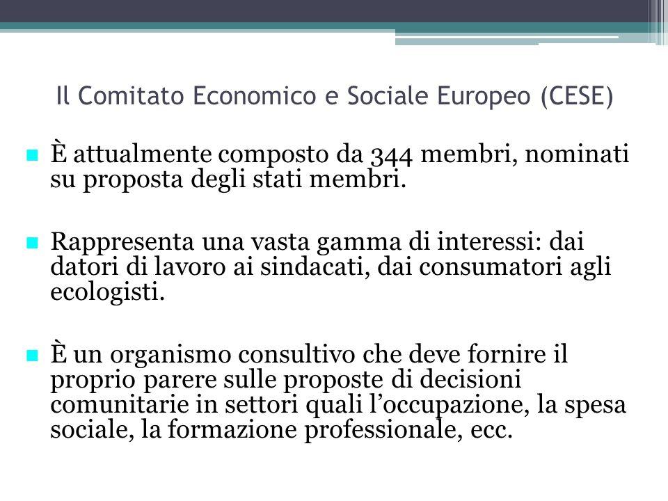 Il Comitato Economico e Sociale Europeo (CESE)