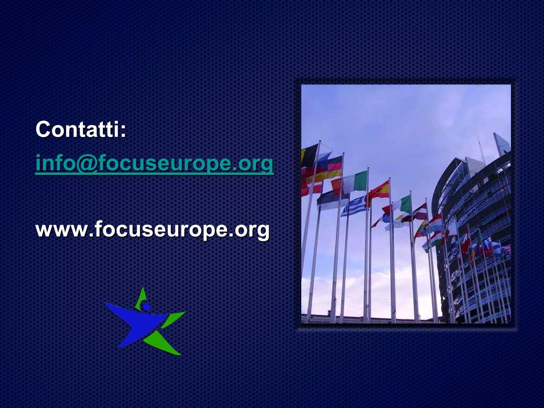 Contatti: info@focuseurope.org www.focuseurope.org