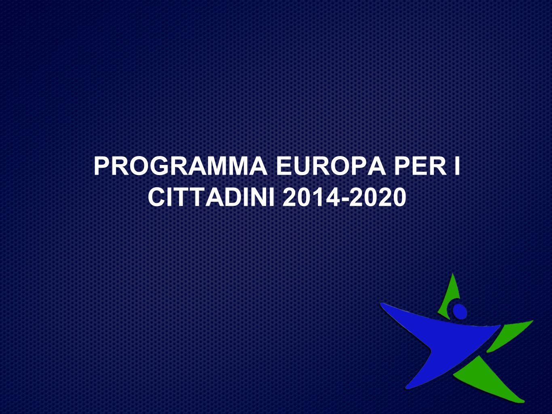 PROGRAMMA EUROPA PER I CITTADINI 2014-2020