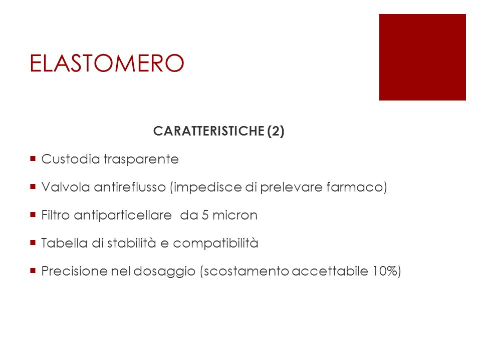 ELASTOMERO CARATTERISTICHE (2) Custodia trasparente