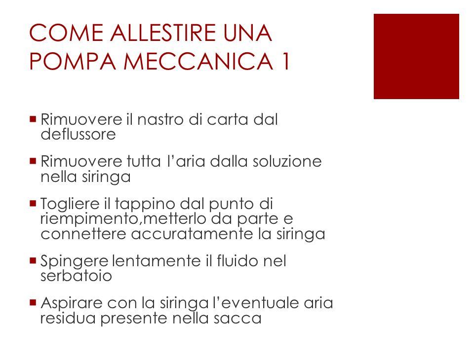 COME ALLESTIRE UNA POMPA MECCANICA 1