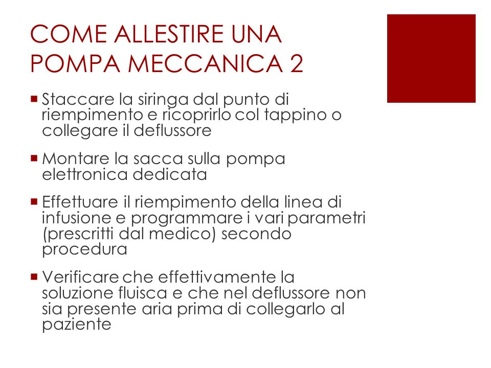COME ALLESTIRE UNA POMPA MECCANICA 2